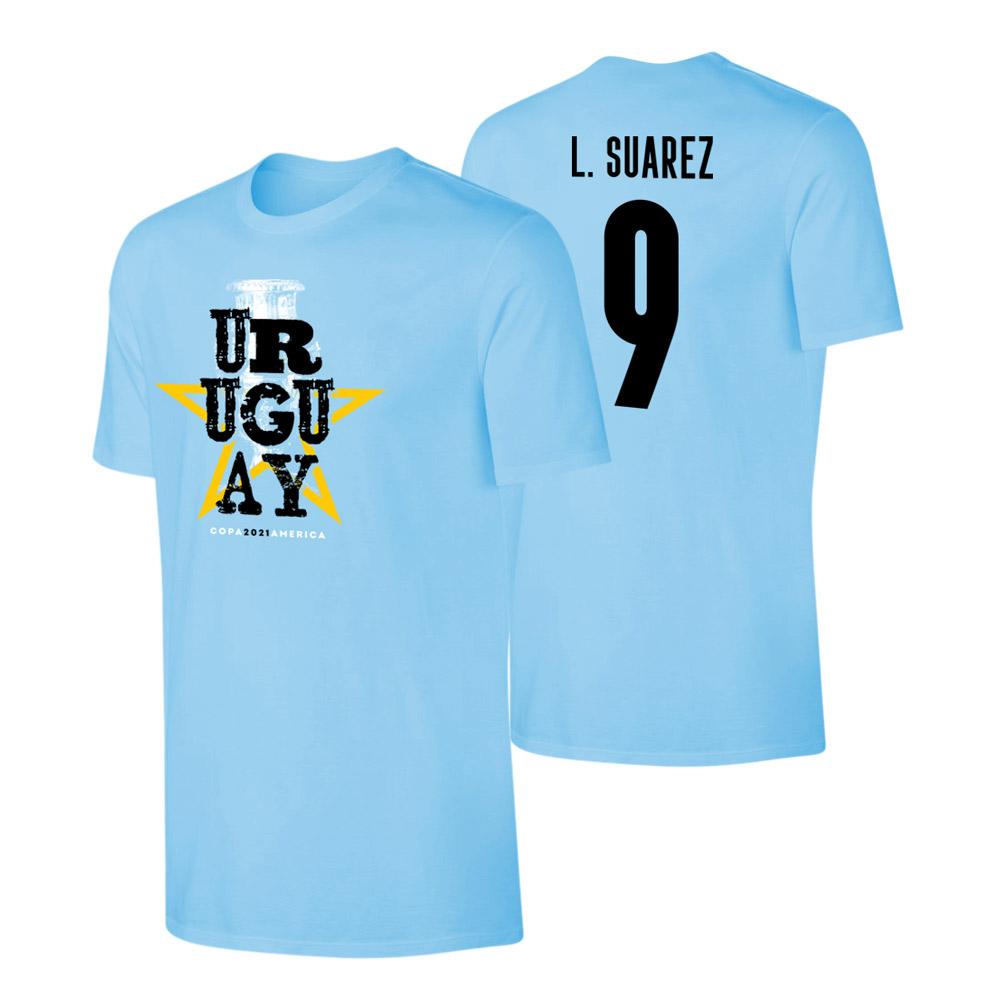 Uruguay CA2021 'Qualifiers' t-shirt SUAREZ, light blue