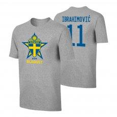Sweden EU2020 'BLÅGULT' t-shirt IBRAHIMOVIĆ, grey