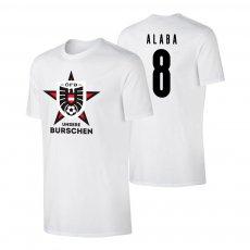 Austria EU2020 'UNSERE BURSCHEN' t-shirt ALABA, white