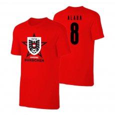 Austria EU2020 'UNSERE BURSCHEN' t-shirt ALABA, red