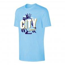 Manchester City 'CHAMPIONS 2021' t-shirt, light blue