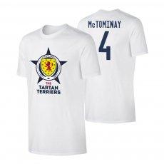 Scotland EU2020 'THE TARTAN TERRIERS' t-shirt MCTOMINAY, white