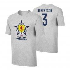 Scotland EU2020 'THE TARTAN TERRIERS' t-shirt ROBERTSON, grey
