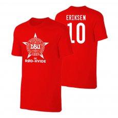 Denmark EU2020 'DE RØD-HVIDE' t-shirt ERIKSEN, red