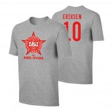 Denmark EU2020 'DE RØD-HVIDE' t-shirt ERIKSEN, grey