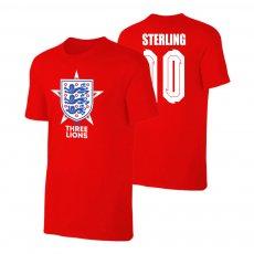England EU2020 'THE THREE LIONS' t-shirt STERLING, red