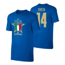 Italy EU2020 'GLI AZZURRI' t-shirt CHIESA, blue