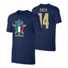 Italy EU2020 'GLI AZZURRI' t-shirt CHIESA, dark blue