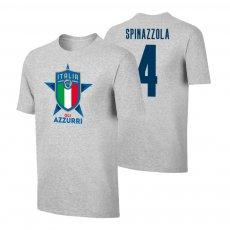 Italy EU2020 'GLI AZZURRI' t-shirt SPINAZZOLA, grey