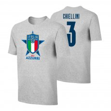 Italy EU2020 'GLI AZZURRI' t-shirt CHIELLINI, grey