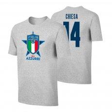Italy EU2020 'GLI AZZURRI' t-shirt CHIESA, grey