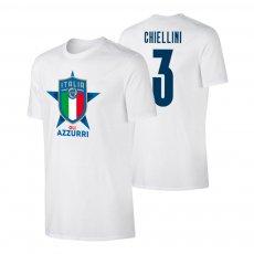 Italy EU2020 'GLI AZZURRI' t-shirt CHIELLINI, white