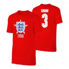 England EU2020 'THE THREE LIONS' t-shirt SHAW, red