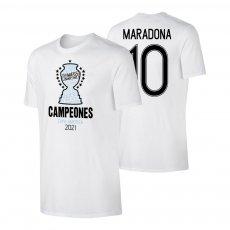 Argentina CA2021 'CAMPEONES' t-shirt MARADONA, white