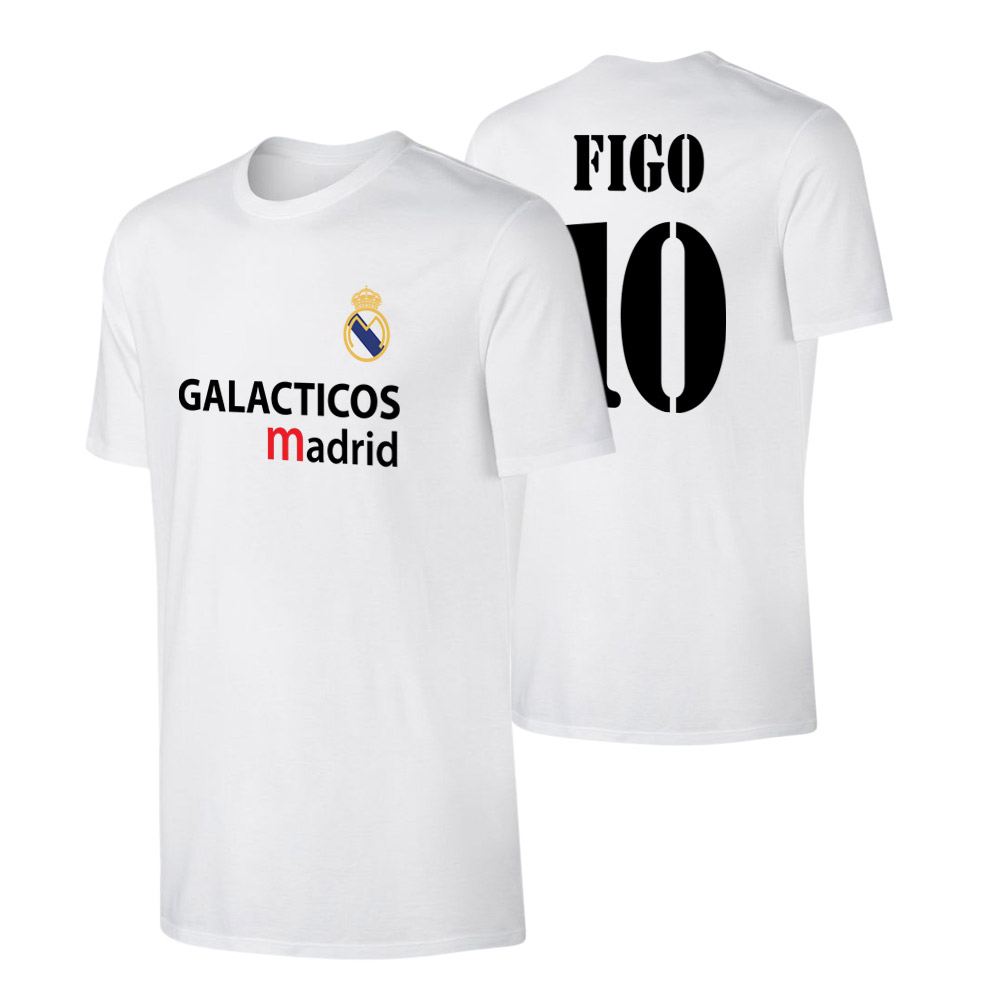Real Madrid 'GALACTICOS' t-shirt FIGO, white