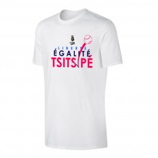 Tsitsipas Hooligans 'Liberté égalité Tsitsipé' t-shirt, white