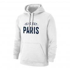 Paris  'ICI C'EST 21' footer with hood, white