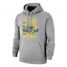 Real 'HALA MADRID 1902' footer with hood, grey