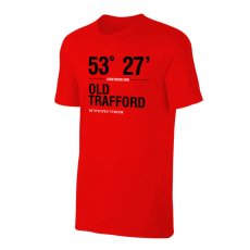 Manchester United 'Stadium Coordinates' t-shirt, red