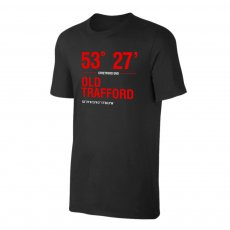 Manchester United 'Stadium Coordinates' t-shirt, black