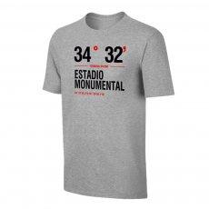 River Plate 'Stadium Coordinates' t-shirt, grey