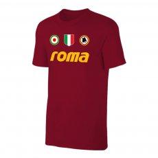 Roma 'Vintage 81/82' t-shirt,, crimson