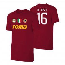 Roma 'Vintage 81/82' t-shirt DE ROSSI, crimson