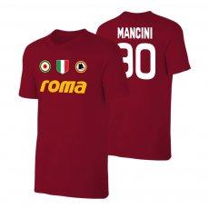 Roma 'Vintage 81/82' t-shirt MANCINI, crimson