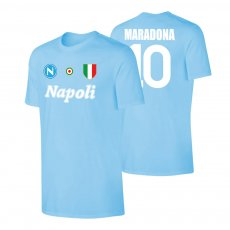 Napoli 'Vintage 86/87' t-shirt MARADONA, light blue