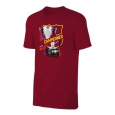 Barcelona 'CAMPEONES 8/11' t-shirt, crimson