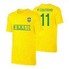 Brasil CA2019 'Qualifiers' t-shirt COUTINHO, yellow