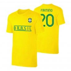 Brasil CA2019 'Qualifiers' t-shirt FIRMINO, yellow