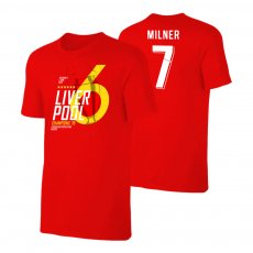 Liverpool CL19 'Champions' t-shirt MILNER, red