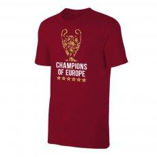 Liverpool '6 TROPHIES' t-shirt, crimson