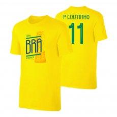 Brasil CA2019 'TROPHY' t-shirt COUTINHO, yellow