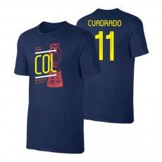 Colombia CA2019 'TROPHY' t-shirt CUARDADO, dark blue
