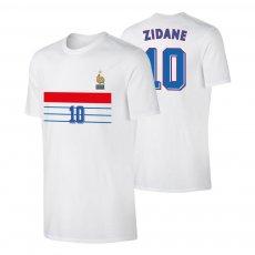 France 1998 retro t-shirt ZIDANE, white