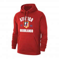 "Atletico Madrid ""EST. 1903"" footer with hood, red"