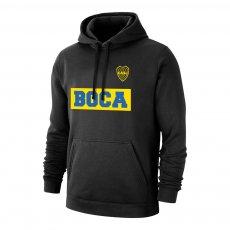 "Boca Juniors ""Text19"" footer with hood, black"