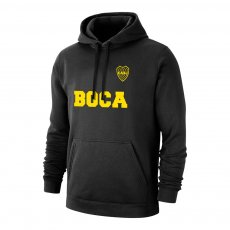 "Boca Juniors ""Text"" footer with hood, black"