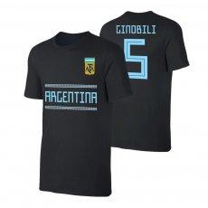 Argentina WC2018 'Qualifiers' t-shirt GINOBILI, black