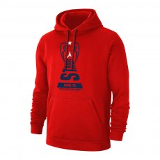 Paris Saint Germain 'Road to ISTANBUL' footer with hood, red