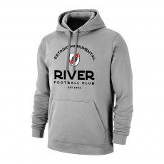 River Plate 'Estadio' footer with hood, grey