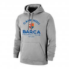 "Barcelona ""Estadio"" footer with hood, grey"