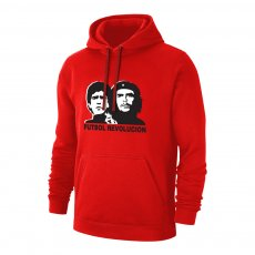 "Futbol Revolution ""Maradona / Che Guevara"" footer with hood, red"