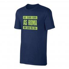 Roma 'NON SARAI MAI SOLA' t-shirt, dark blue