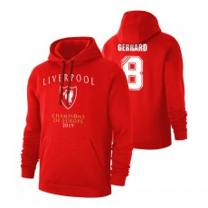 Liverpool 'CHAMPI6NS' footer with hood GERRARD, red