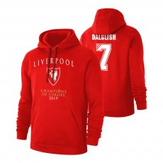 Liverpool 'CHAMPI6NS' footer with hood DALGLISH, red