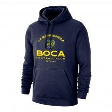 "Boca Juniors ""Estadio"" footer with hood, dark blue"