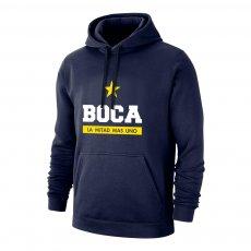 Boca Juniors 'Estrella' footer with hood, dark blue